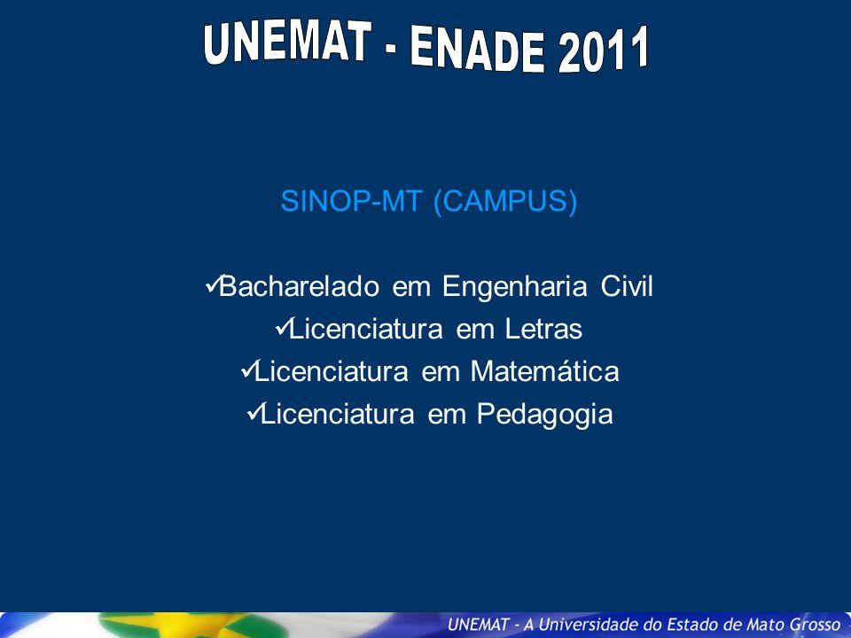 UNEMAT - ENADE 2011 SINOP-MT (CAMPUS) Bacharelado em Engenharia Civil