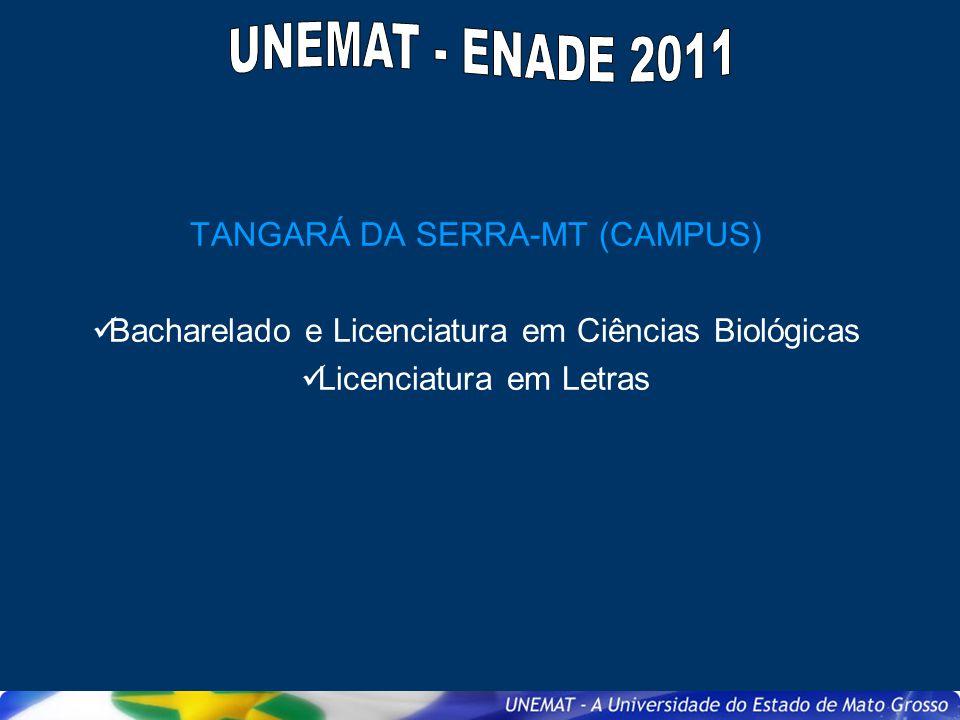 UNEMAT - ENADE 2011 TANGARÁ DA SERRA-MT (CAMPUS)