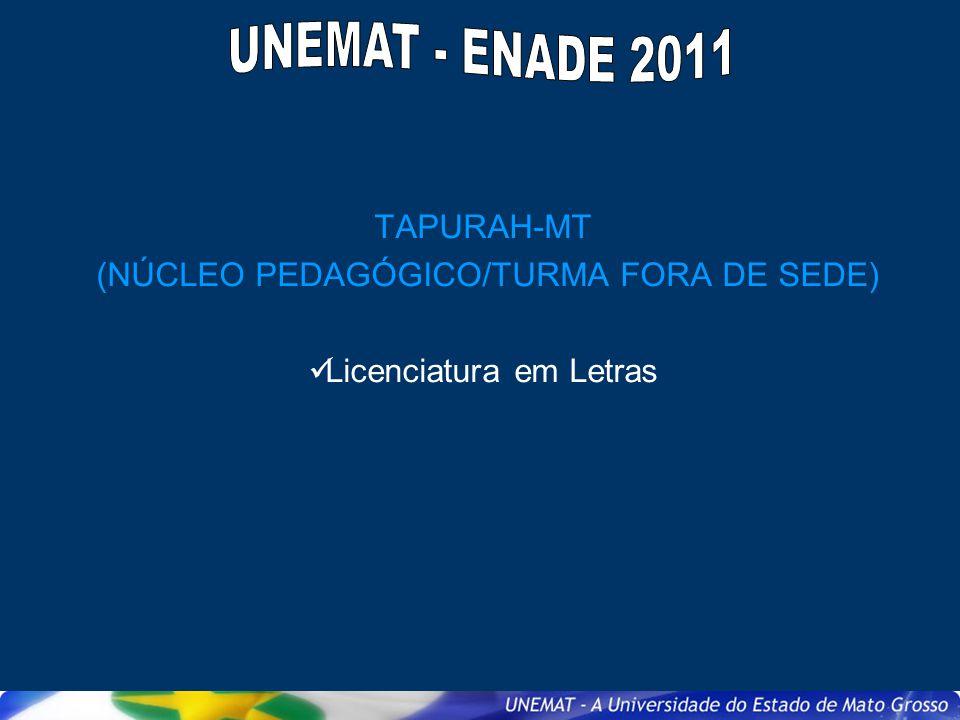 UNEMAT - ENADE 2011 TAPURAH-MT (NÚCLEO PEDAGÓGICO/TURMA FORA DE SEDE)
