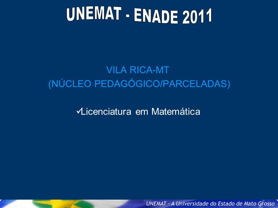 VILA RICA-MT (NÚCLEO PEDAGÓGICO/PARCELADAS) Licenciatura em Matemática