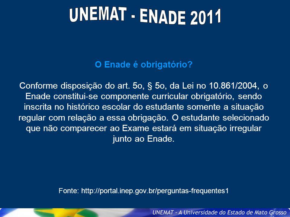 UNEMAT - ENADE 2011