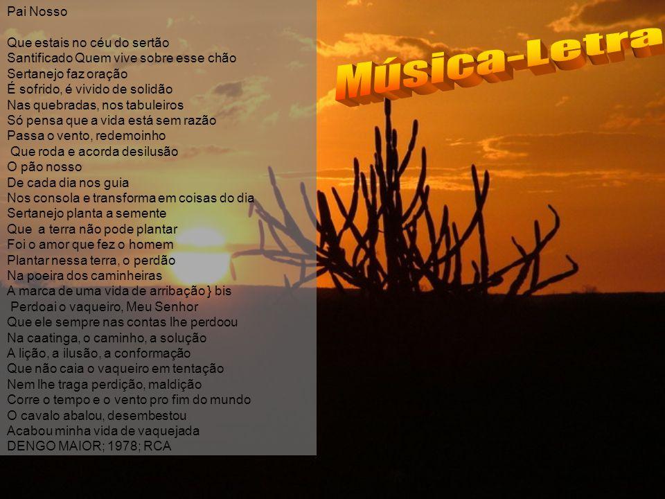 Música-Letra Pai Nosso Que estais no céu do sertão