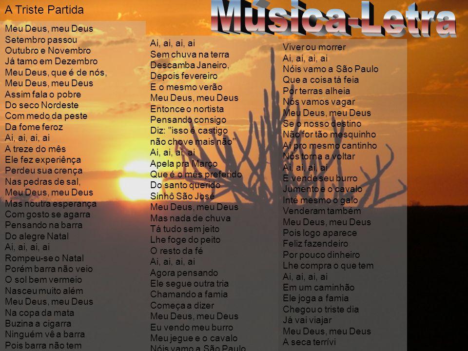 Música-Letra A Triste Partida