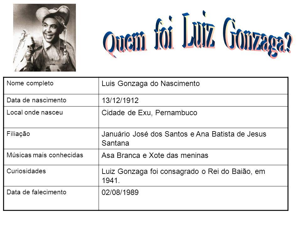 Quem foi Luiz Gonzaga FOTO Luis Gonzaga do Nascimento 13/12/1912