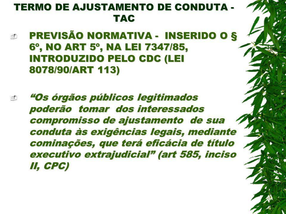 TERMO DE AJUSTAMENTO DE CONDUTA - TAC