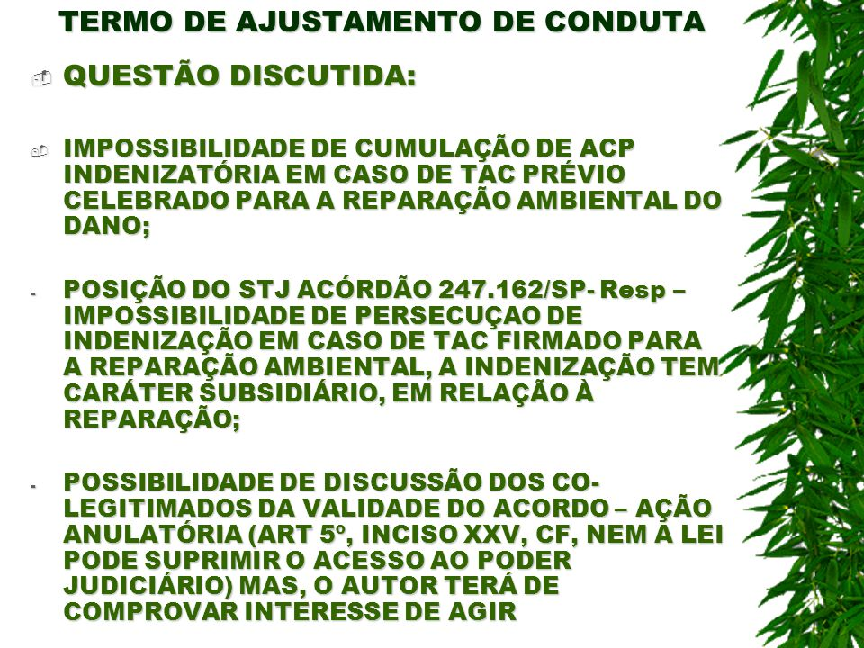 TERMO DE AJUSTAMENTO DE CONDUTA