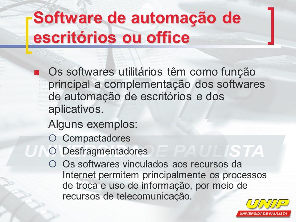 Software de automação de escritórios ou office