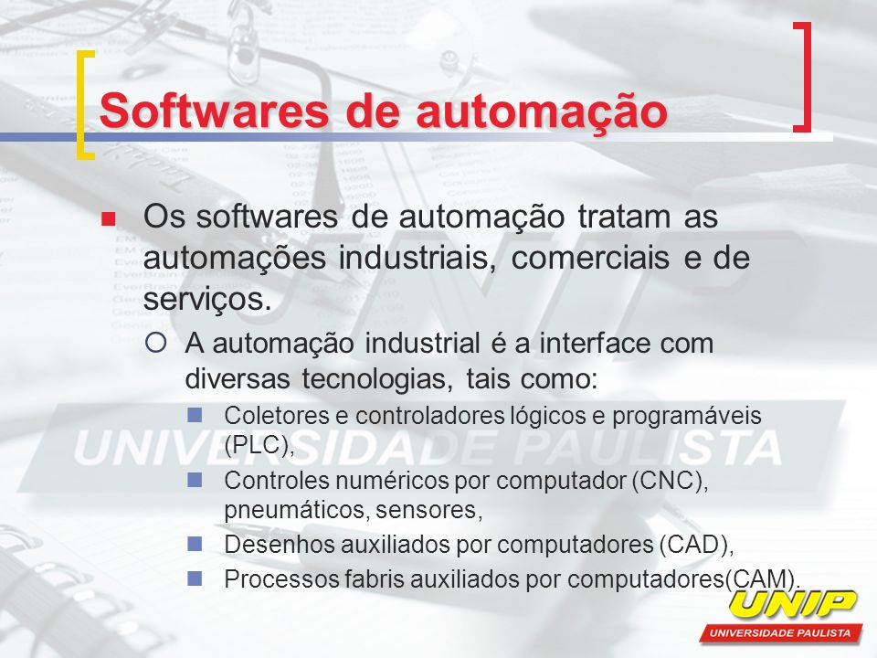 Softwares de automação