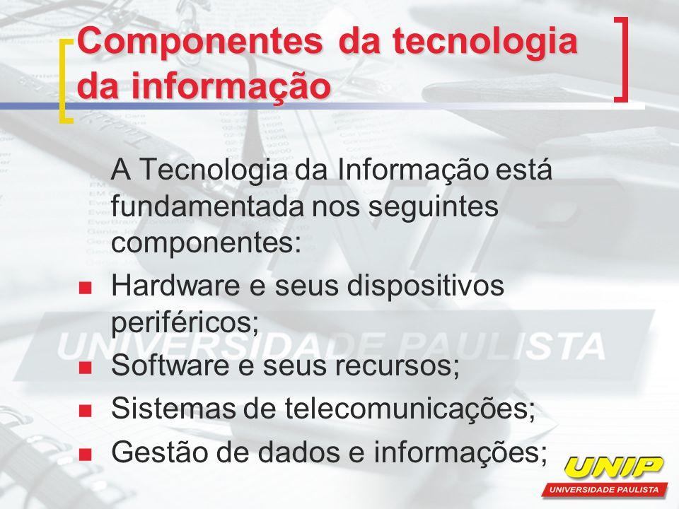 Componentes da tecnologia da informação
