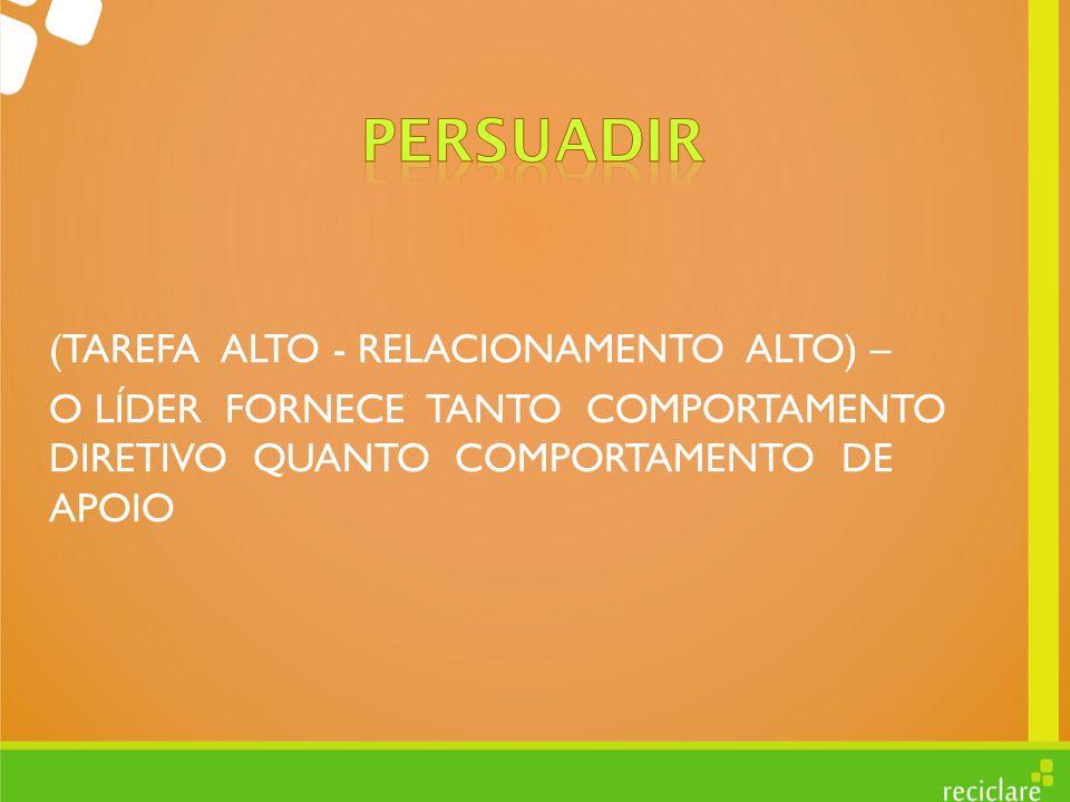 PERSUADIR (TAREFA ALTO - RELACIONAMENTO ALTO) –
