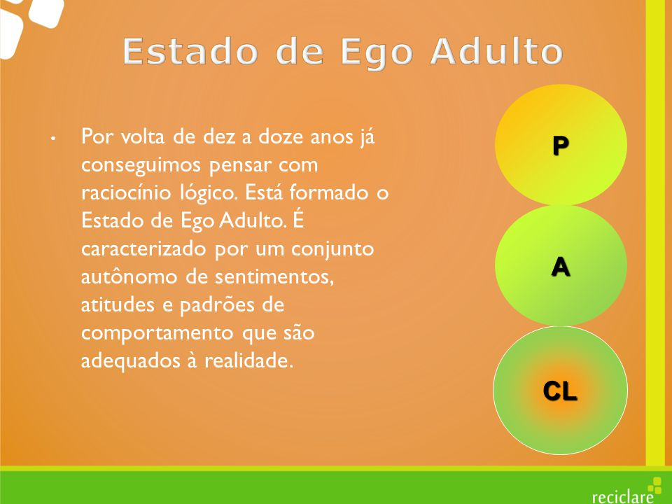 Estado de Ego Adulto P A CL
