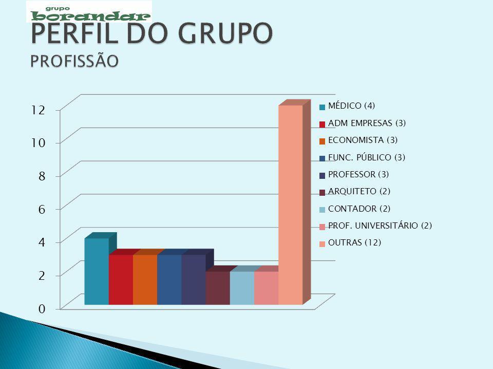 PERFIL DO GRUPO PROFISSÃO