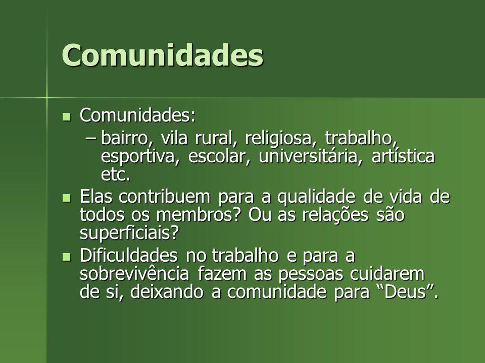 Comunidades Comunidades: