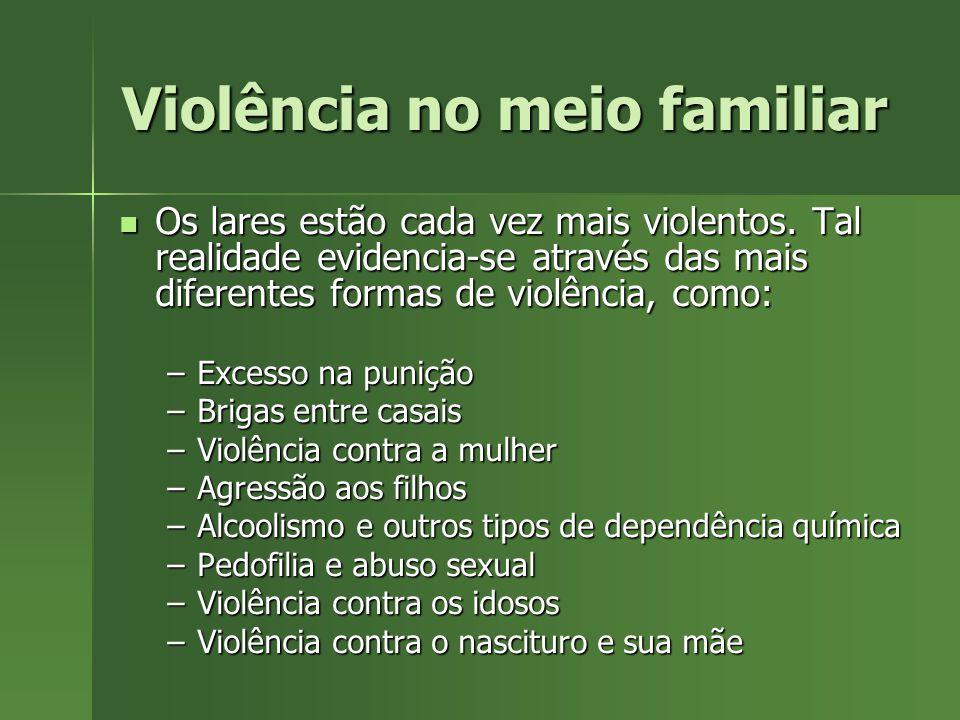 Violência no meio familiar