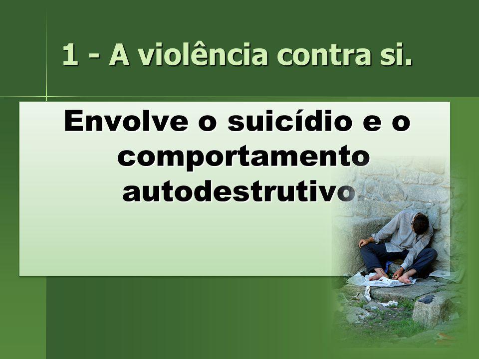 Envolve o suicídio e o comportamento autodestrutivo.
