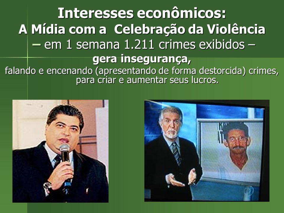 Interesses econômicos: A Mídia com a Celebração da Violência