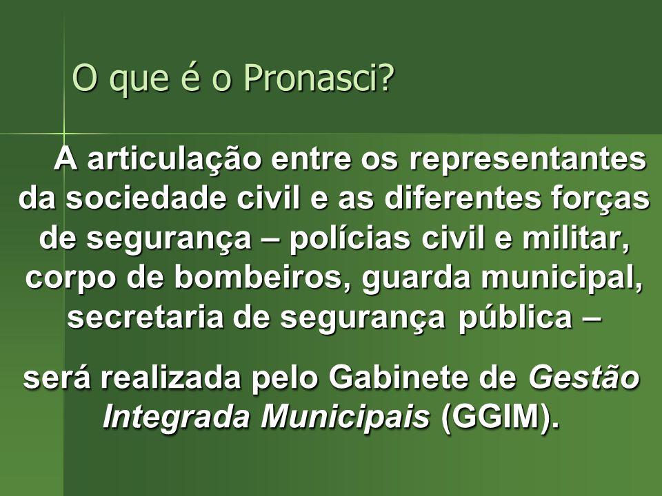 será realizada pelo Gabinete de Gestão Integrada Municipais (GGIM).