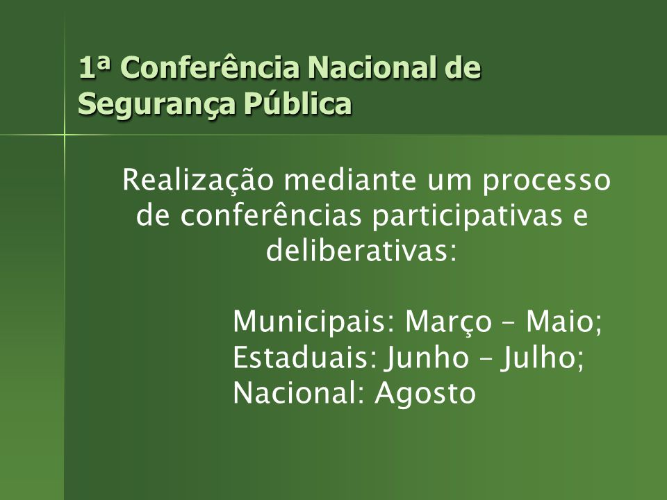 1ª Conferência Nacional de Segurança Pública