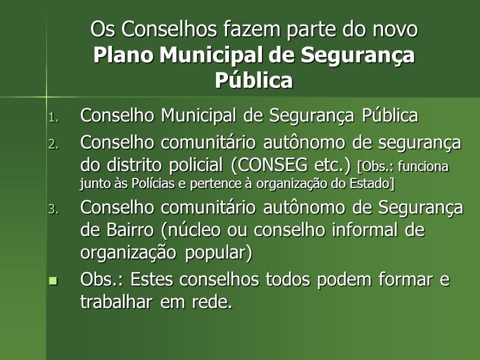Os Conselhos fazem parte do novo Plano Municipal de Segurança Pública