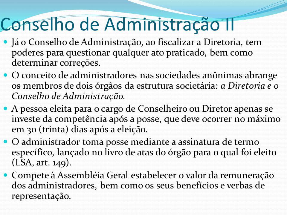 Conselho de Administração II
