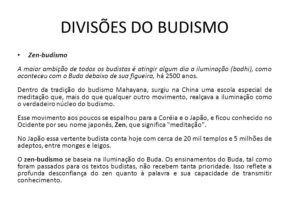 DIVISÕES DO BUDISMO Zen-budismo