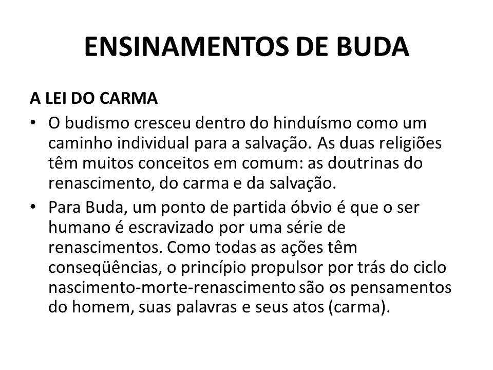 ENSINAMENTOS DE BUDA A LEI DO CARMA