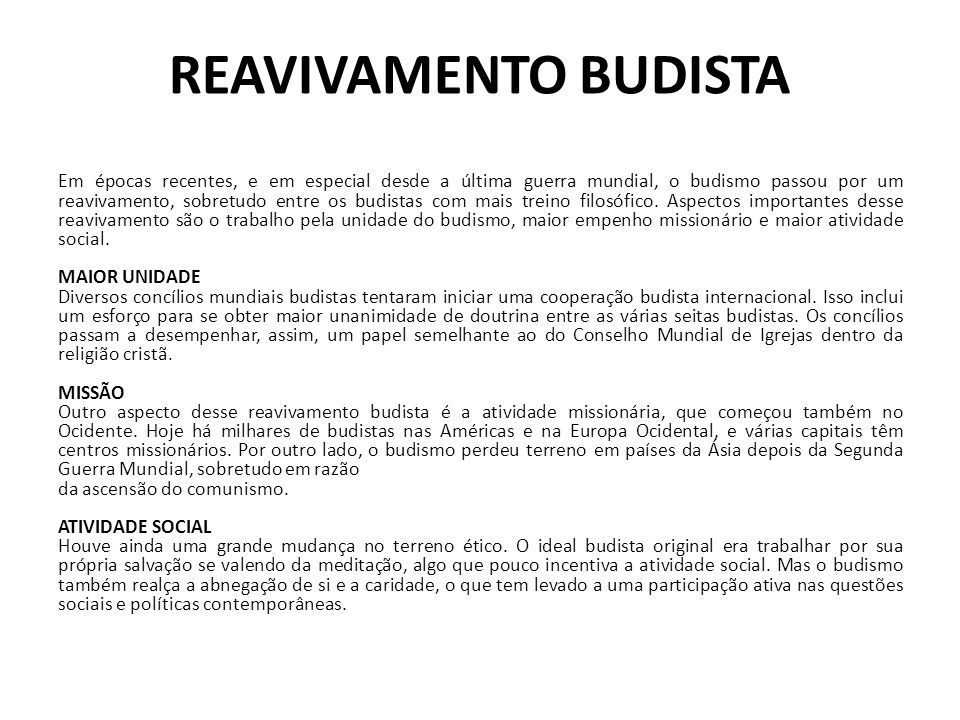 REAVIVAMENTO BUDISTA