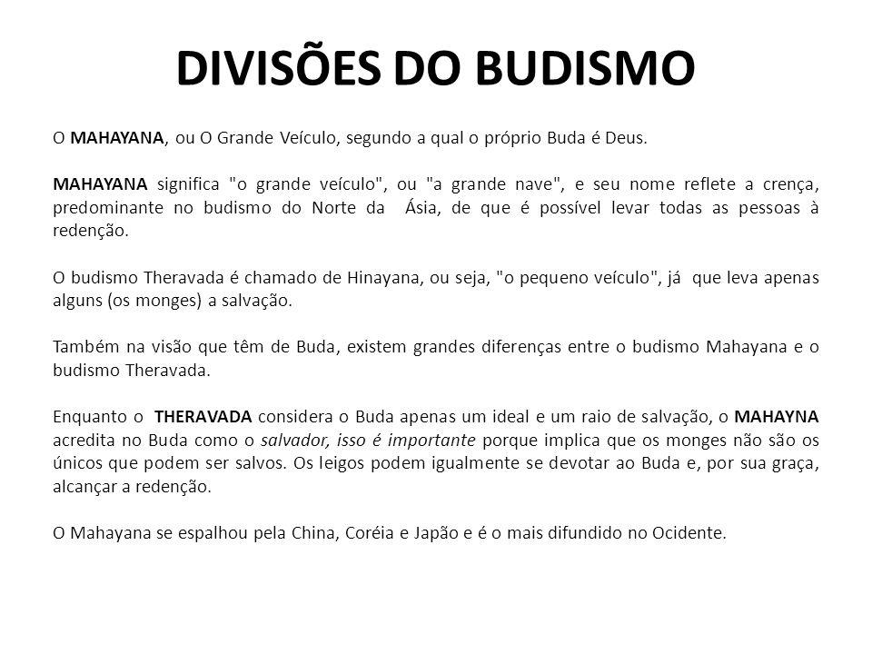 DIVISÕES DO BUDISMO