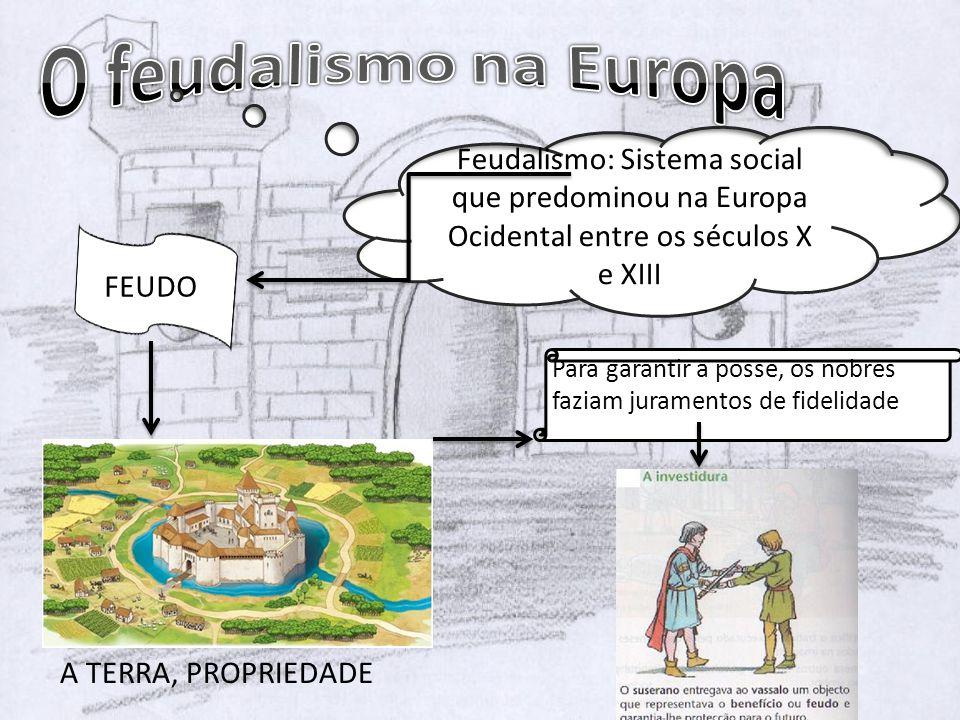 O feudalismo na Europa Feudalismo: Sistema social que predominou na Europa Ocidental entre os séculos X e XIII.