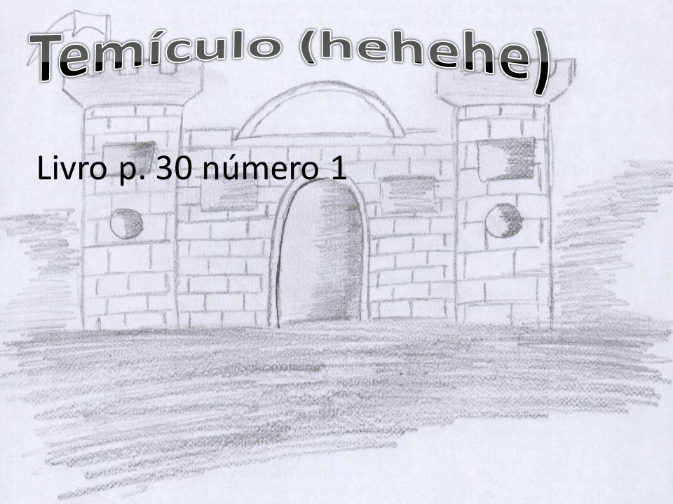 Temículo (hehehe) Livro p. 30 número 1