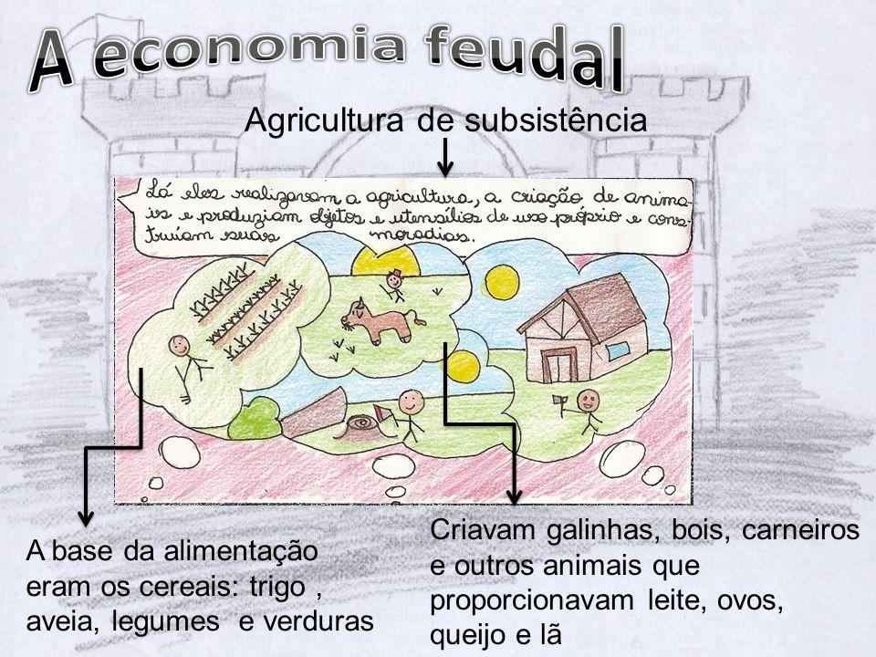 A economia feudal Agricultura de subsistência