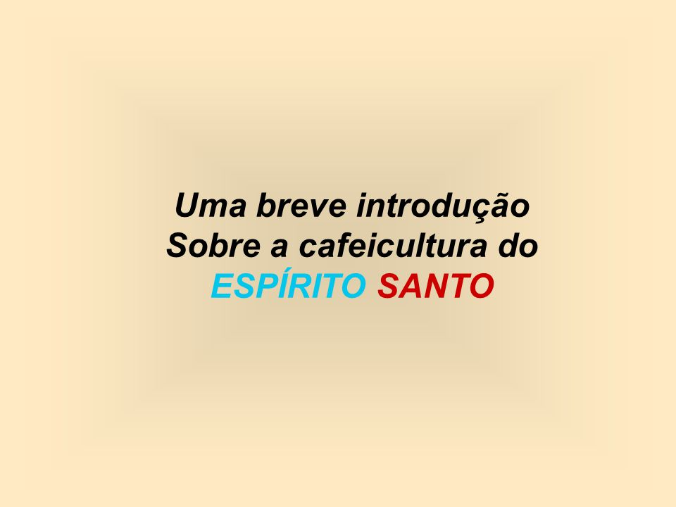 Sobre a cafeicultura do