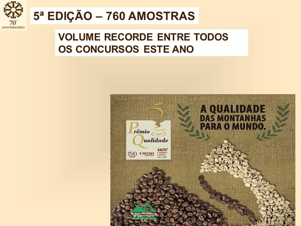 5ª EDIÇÃO – 760 AMOSTRAS VOLUME RECORDE ENTRE TODOS OS CONCURSOS ESTE ANO