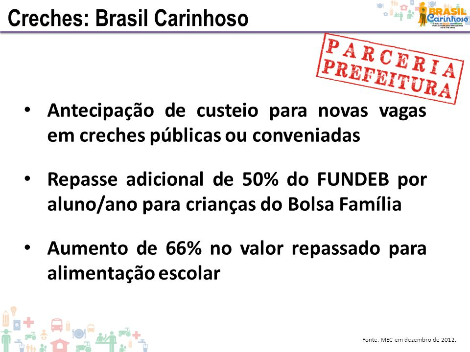 Creches: Brasil Carinhoso