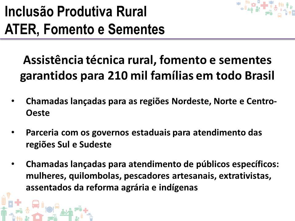 Inclusão Produtiva Rural ATER, Fomento e Sementes