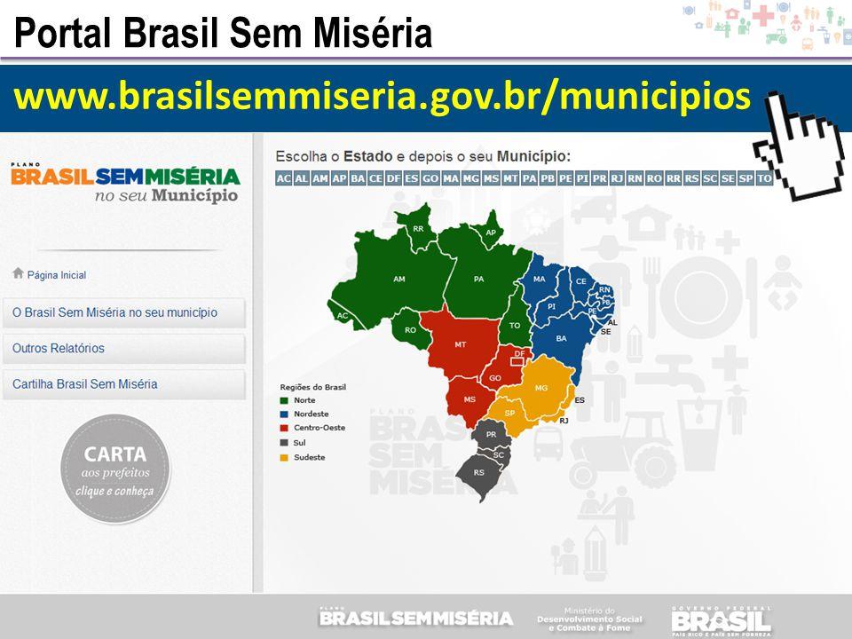 Portal Brasil Sem Miséria www.brasilsemmiseria.gov.br/municipios