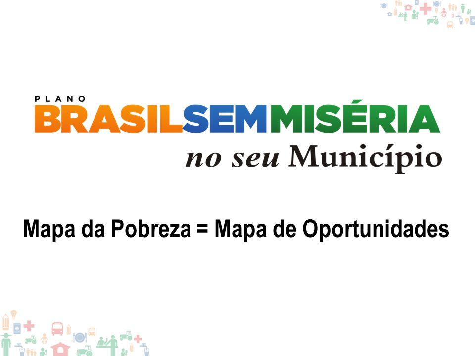 Mapa da Pobreza = Mapa de Oportunidades