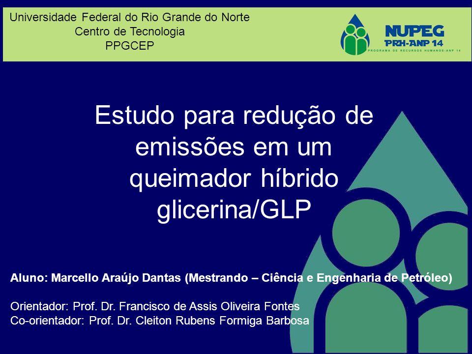 Estudo para redução de emissões em um queimador híbrido glicerina/GLP