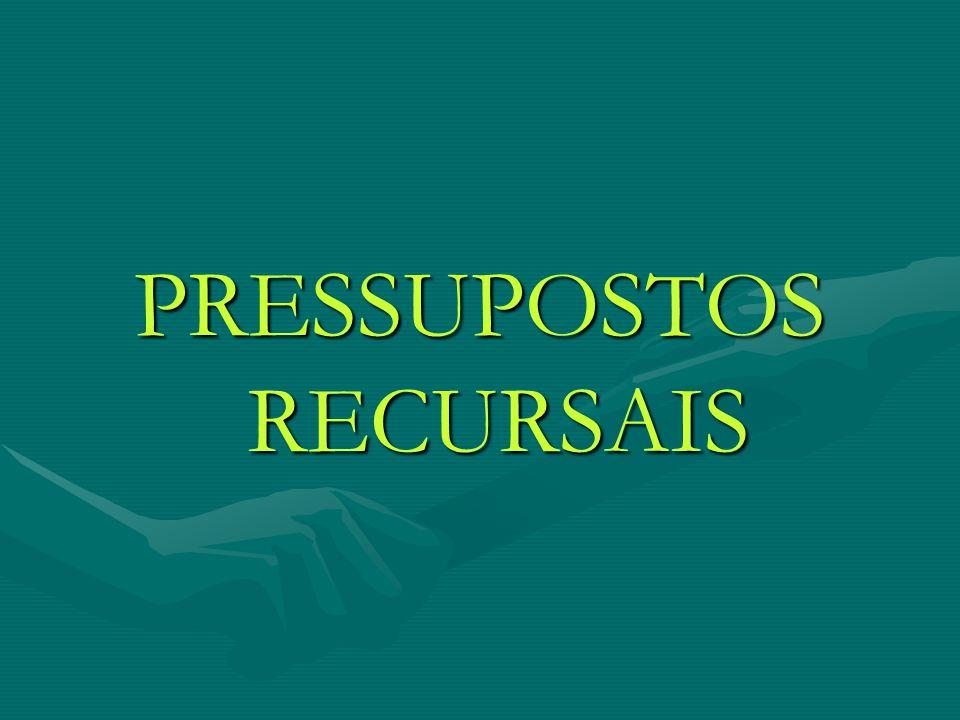 PRESSUPOSTOS RECURSAIS