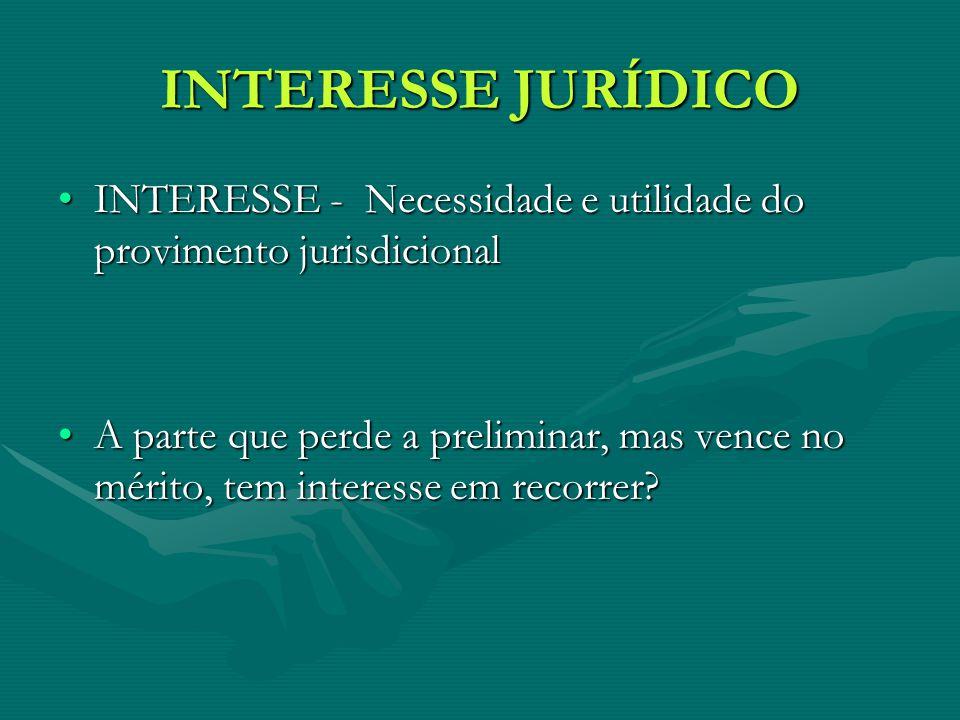 INTERESSE JURÍDICO INTERESSE - Necessidade e utilidade do provimento jurisdicional.