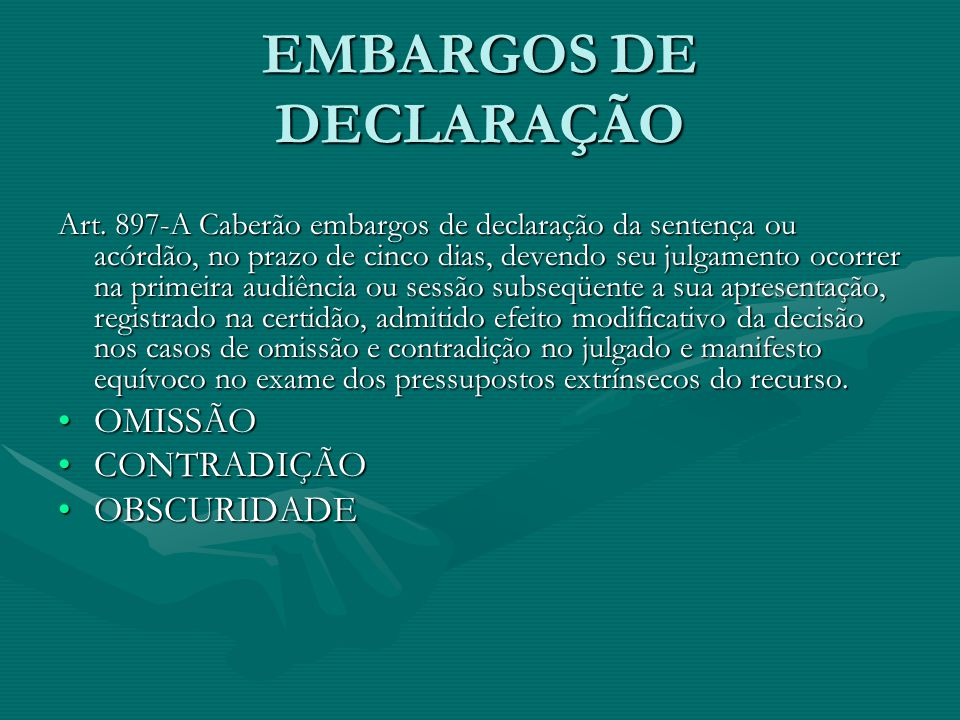 EMBARGOS DE DECLARAÇÃO