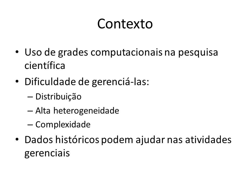 Contexto Uso de grades computacionais na pesquisa científica