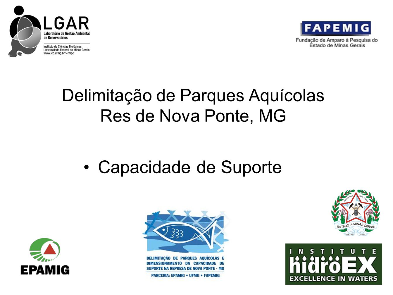 Delimitação de Parques Aquícolas Res de Nova Ponte, MG