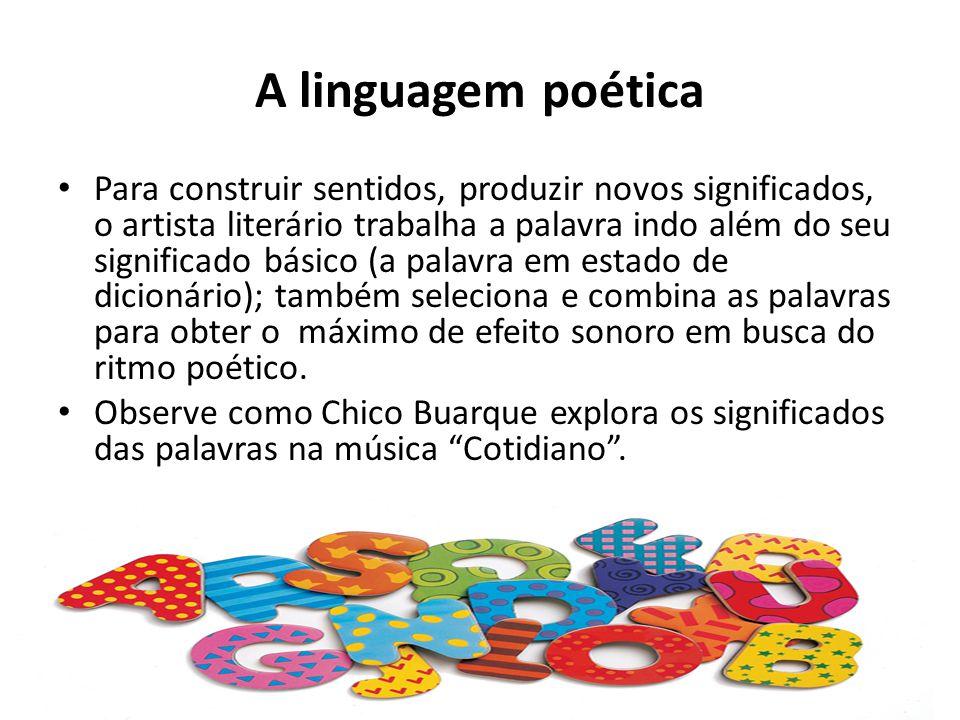 A linguagem poética