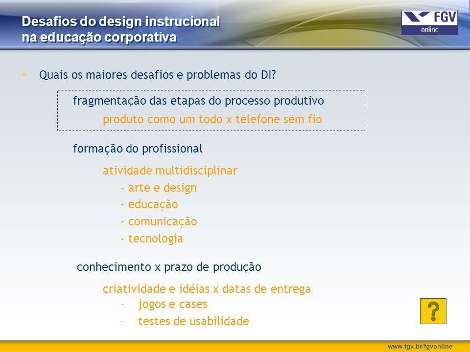 Desafios do design instrucional na educação corporativa