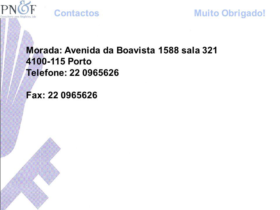 Contactos Muito Obrigado!