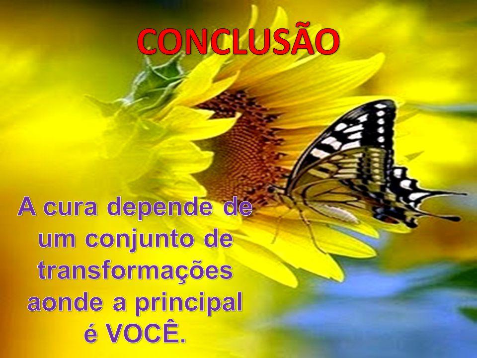 CONCLUSÃO A cura depende de um conjunto de transformações aonde a principal é VOCÊ.