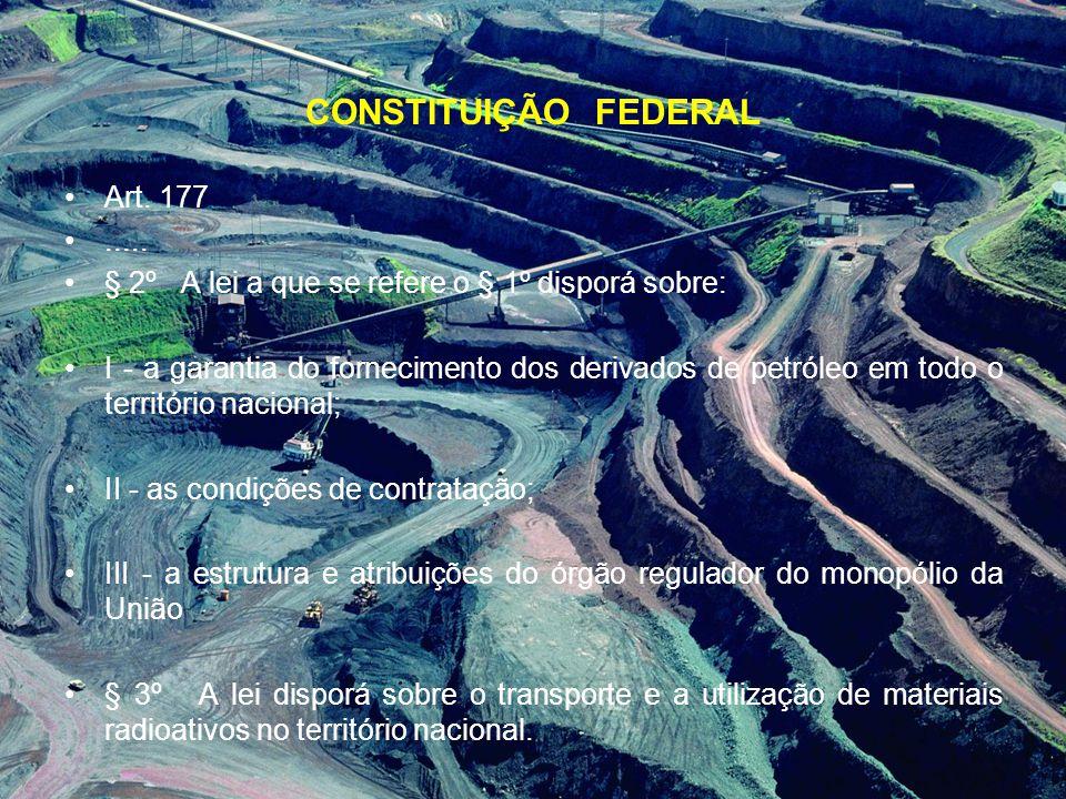 CONSTITUIÇÃO FEDERAL Art. 177 .....