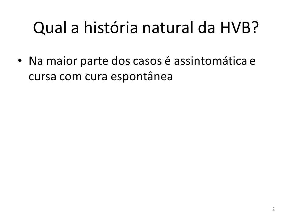 Qual a história natural da HVB