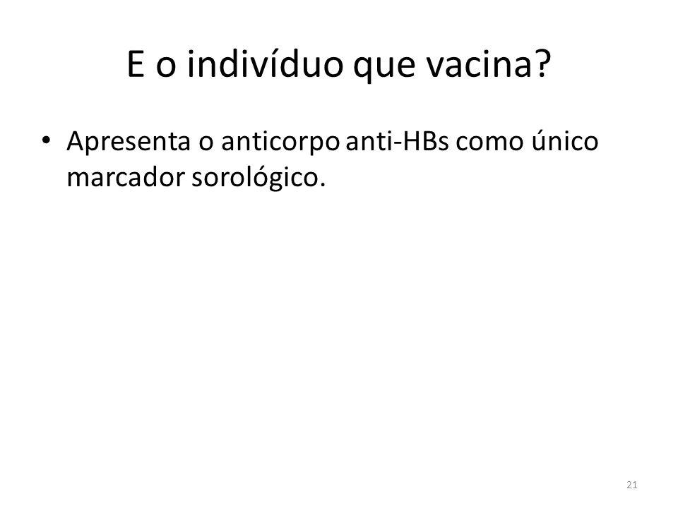 E o indivíduo que vacina